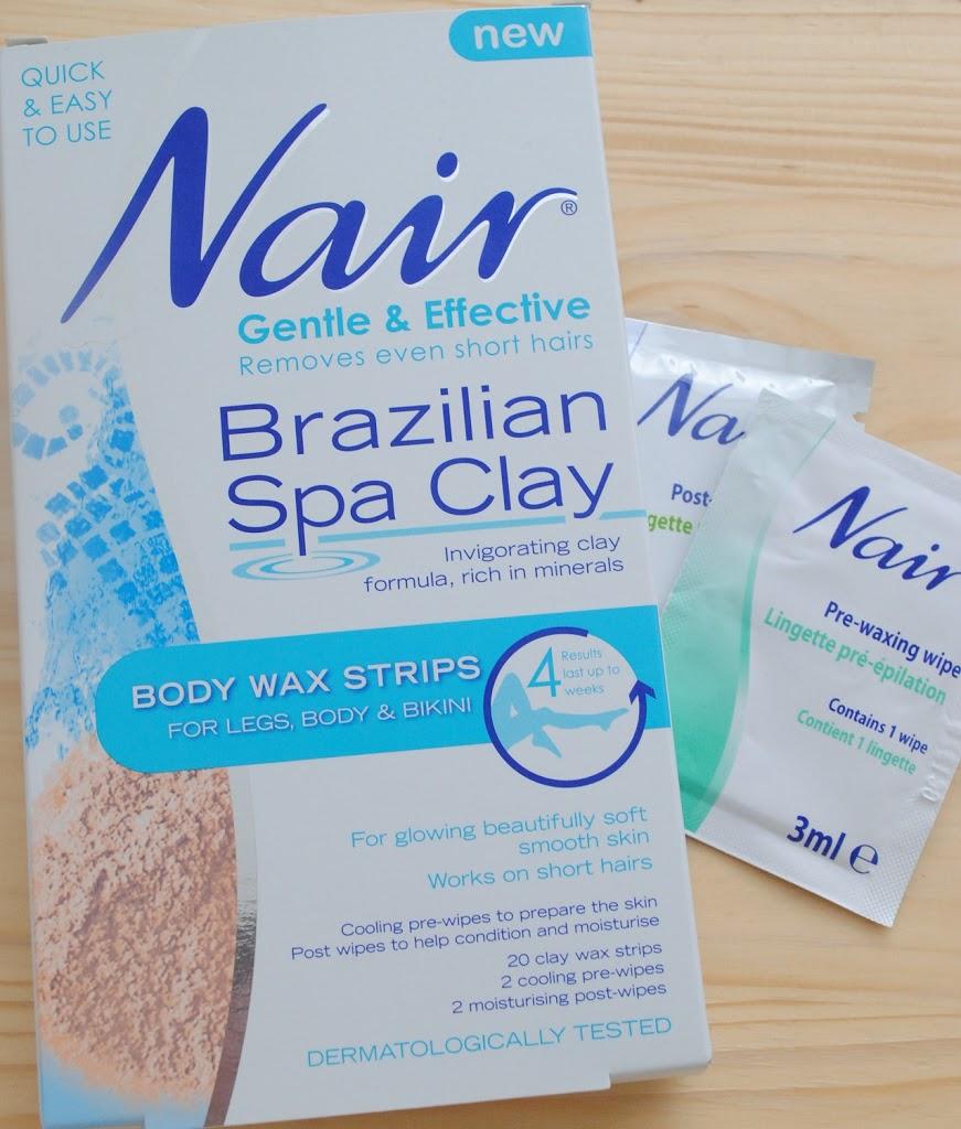 Hair Removal Nair Brazilian Spa Clay Body Wax Strips Review