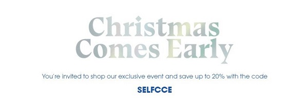 Selfridges Christmas Comes Early 2020 Discount Code