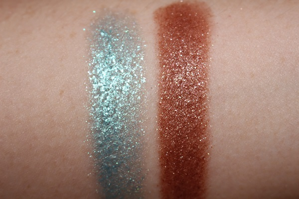 NARS Powerchrome - Islamorada & Stricken Swatches