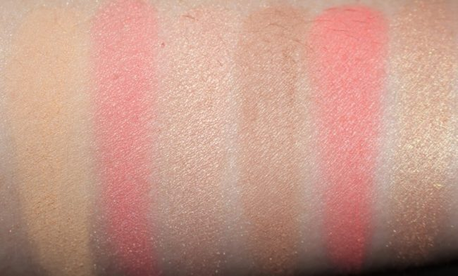 Charlotte Tilbury Glowing Pretty Skin Palette Swatches