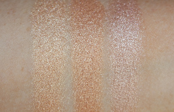 Bronze Goddess Powder Gelee 2020 Swatches - Heatwave, Solar Crush, Modern Mercury