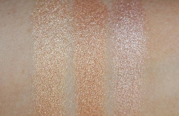 Estee Lauder Bronze Goddess Powder Gelee 2021 Swatches - Heatwave, Solar Crush, Modern Mercury