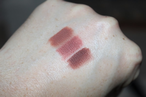 Victoria Beckham Beauty Lip Liner Swatches - 02, 03, 04