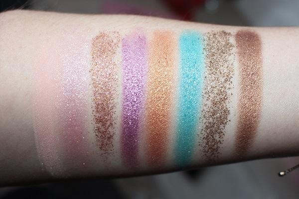 Anastasia Amrezy Eyeshadow Palette Swatches - Top Row