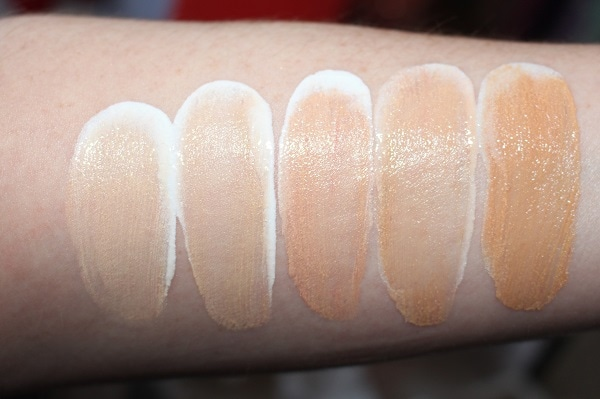 Clarins Milky Boost Healthy Glow Milk Swatches Shades 1-5