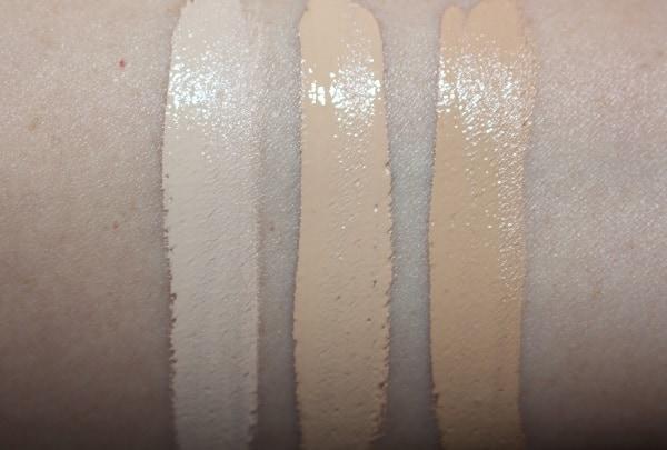 Hourglass Vanish Airbrush Concealer Swatches - Birch, Cotton, Oat