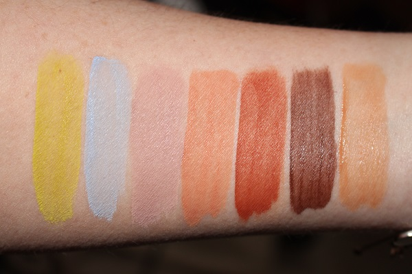 Glossier Skywash Matte Eyeshadow Swatches