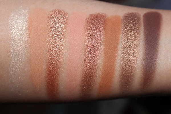 Too Faced Born This Way Natural Nudes Eyeshadow Palette Swatches - Bottom Row