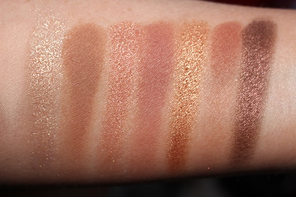 Too Faced Born This Way Natural Nudes Eyeshadow Palette Swatches - Top Row