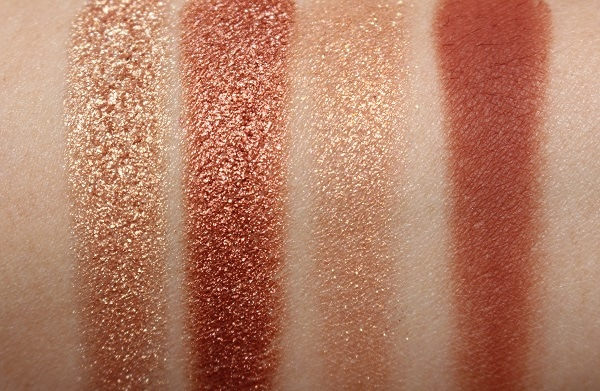 Charlotte Tilbury Copper Charge Luxury Eye Palette Swatches