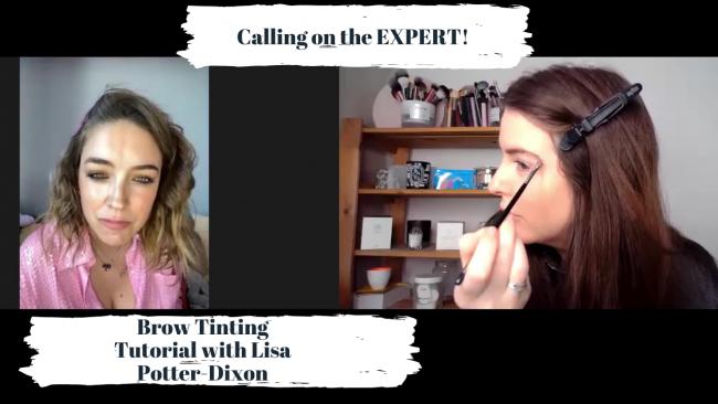 Brow tinting tutorial with Lisa Potter Dixon