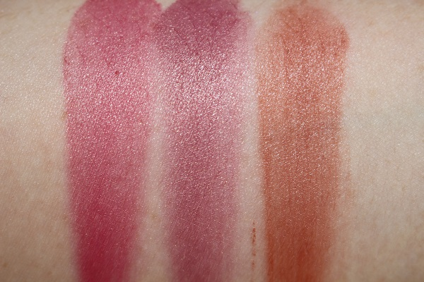 Fenty Cream Blush Sumertime Wine, Cool Berry, Rose Latte Swatches