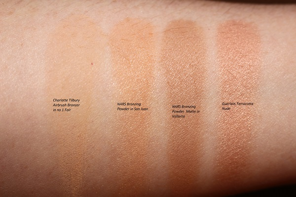 Best Bronzer for Pale Skin Swatches