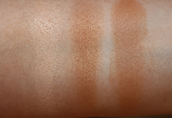Chanel Les Beiges Healthy Glow Illuminating Powder and Bronzing Cream Swatches