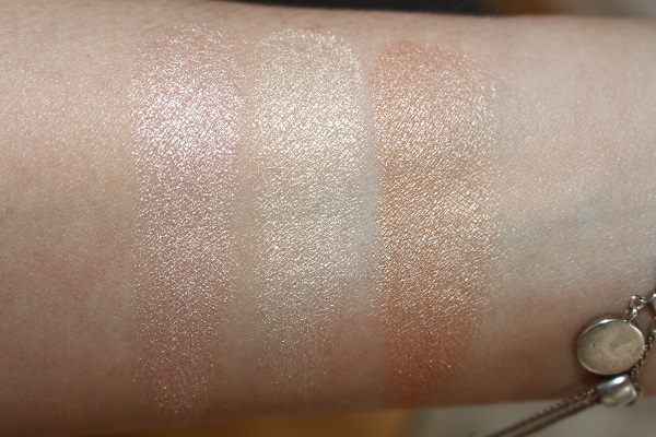 Hourglass Ambient Metallic Strobe Lighting Palette Swatches