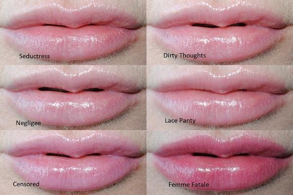 Huda Beauty Diamond Balm Lip Swatches