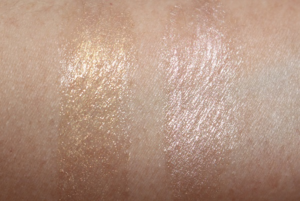 MAC Strobe Face Glaze - Magic Hour & Let's Make Waves Swatches
