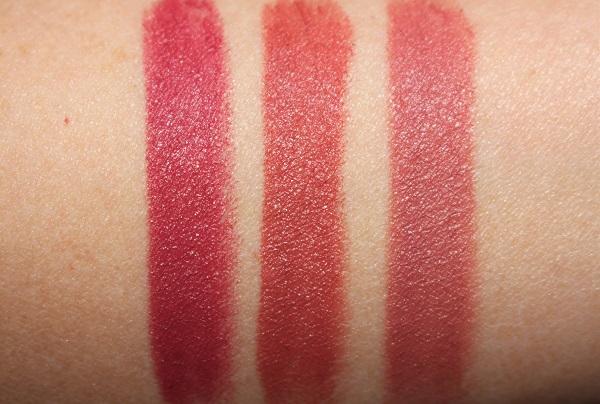 Charlotte Tilbury Love Filter Lipstick Swaches - First Dance, Mrs Kisses, Wedding Belles