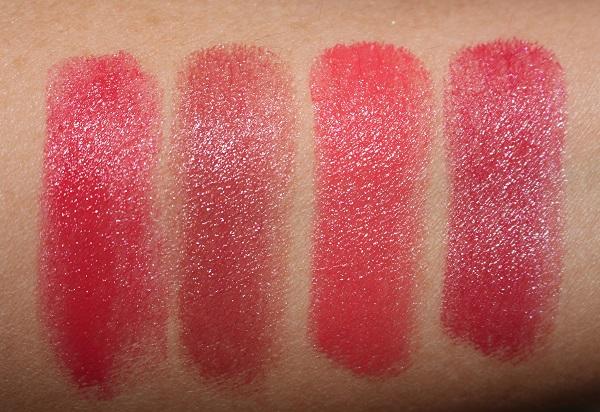 Dior Addict Stellar Halo Shine Lipstick Swatches - Lucky Star, Pink Star, Superstar, Be Dior Star