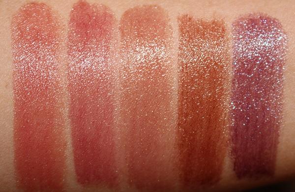 Fenty Beauty Slip Shine Sheer Shiny Lipstick Swatches - 06, 07, 08, 09, 10