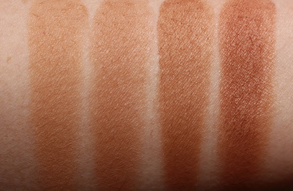 Iconic London Ultimate Bronzing Powder Swatches - Light, Medium, Warm, Deep
