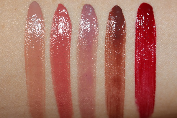 Armani Ecstasy Mirror Lip Lacquer Swatches - 100 Infinite,101 Beyond,102 Electric,200 Stroke,400 Four Hundred