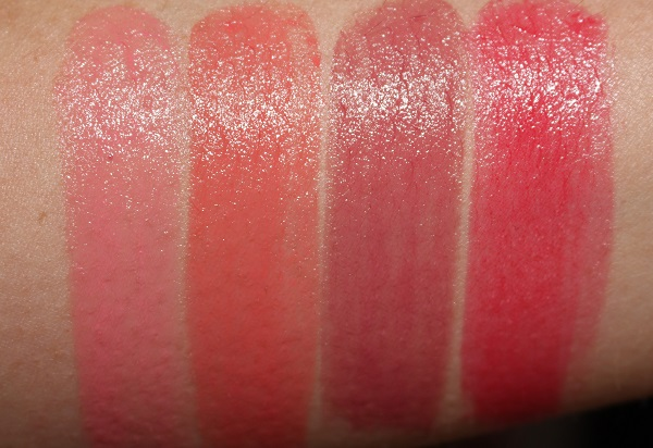 Tom Ford Ultra Shine Lip Color Swatches 521 Du Ciel, 522 Veridique, 706 L'Eclisse, 820 La Chaleur