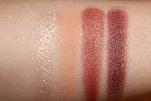 NARS Extreme Effects Eyeshadow Palette Swatches