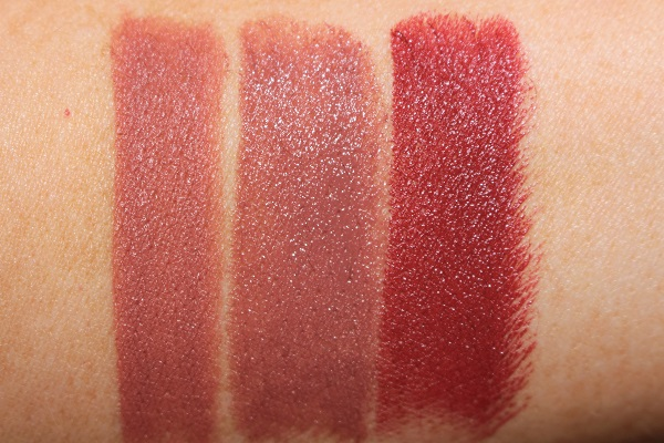 Charlotte Tilbury Holiday Lipsticks - Super You, Super Nude, Super Starlet Swatches