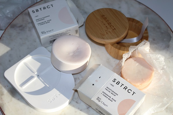 SBTRCT Solid Skincare with compostable outer packaging and zero plastics