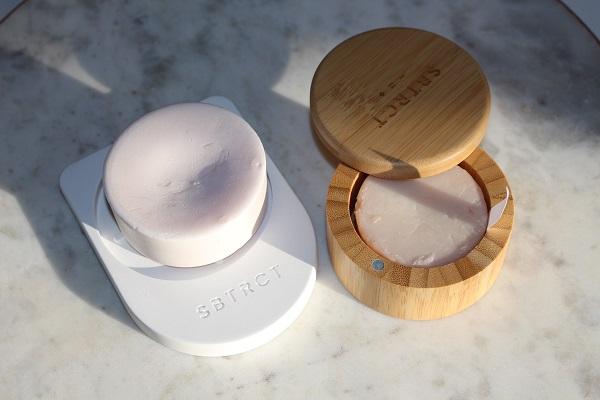 Soap Dish & Bamboo moisturiser pot from SBTRCT Skincare
