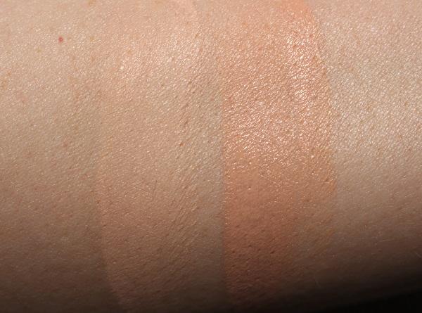 Chantecaille Future Skin Cushion Foundation Swatches - Alabaster & Vanilla