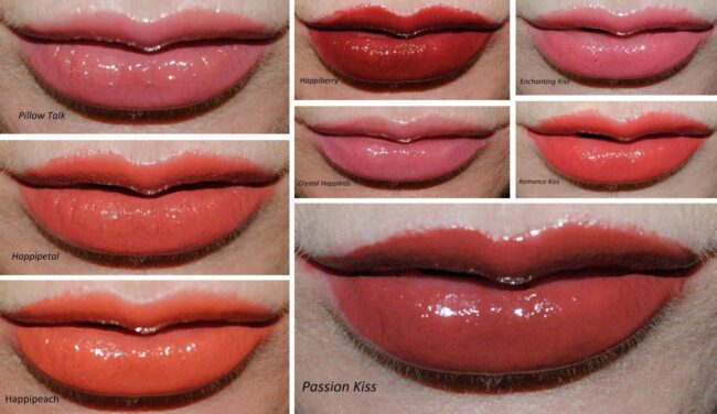 Happikiss Lip Swatches