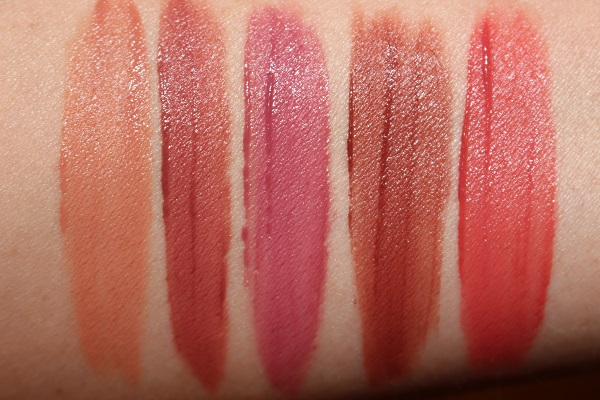 NARS Air Matte Lip Color Swatches - All Yours,Shag,Chaser,Thrust,Joy Ride