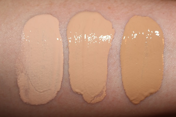 Givenchy Prisme Libre Skin-Caring Glow Foundation Swatches - 1-C105, 2-N150 and 3-W245