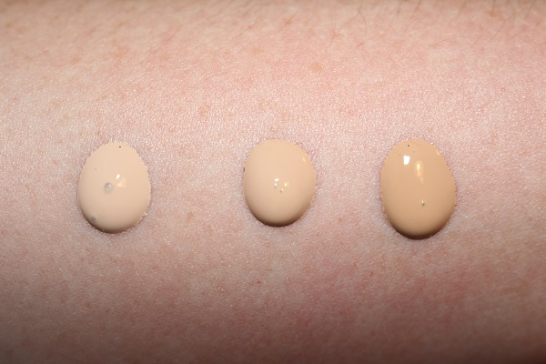 1-C105, 2-N150 and 3-W245 Givenchy Foundation