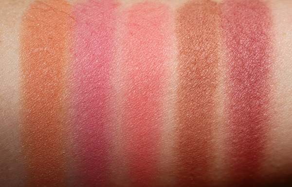 VIEVE Sunset Blush - Pesca, Cherub, Sorbet, Piazza & Malbec Swatches